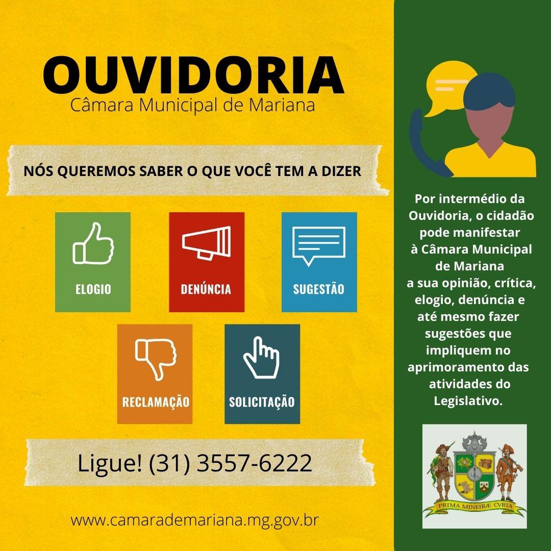 OUVIDORIA DA CÂMARA MUNICIPAL DE MARIANA