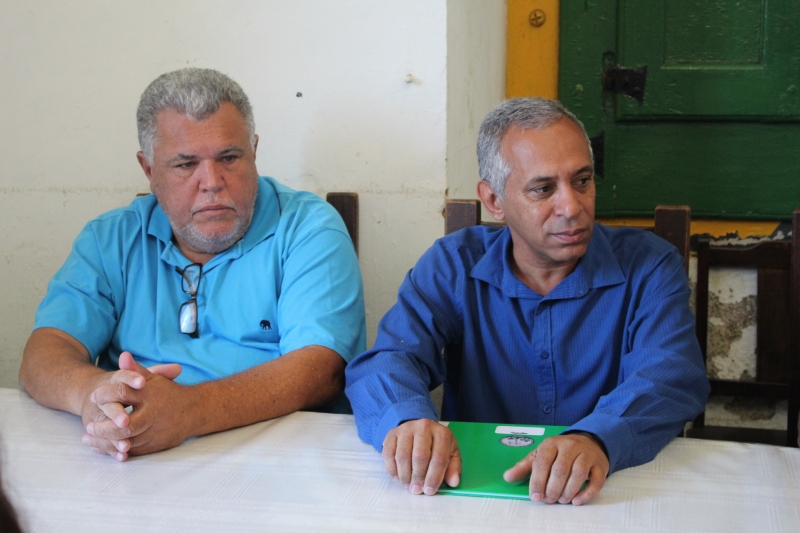 Reunião sobre restauro do prédio da Câmara de Mariana.