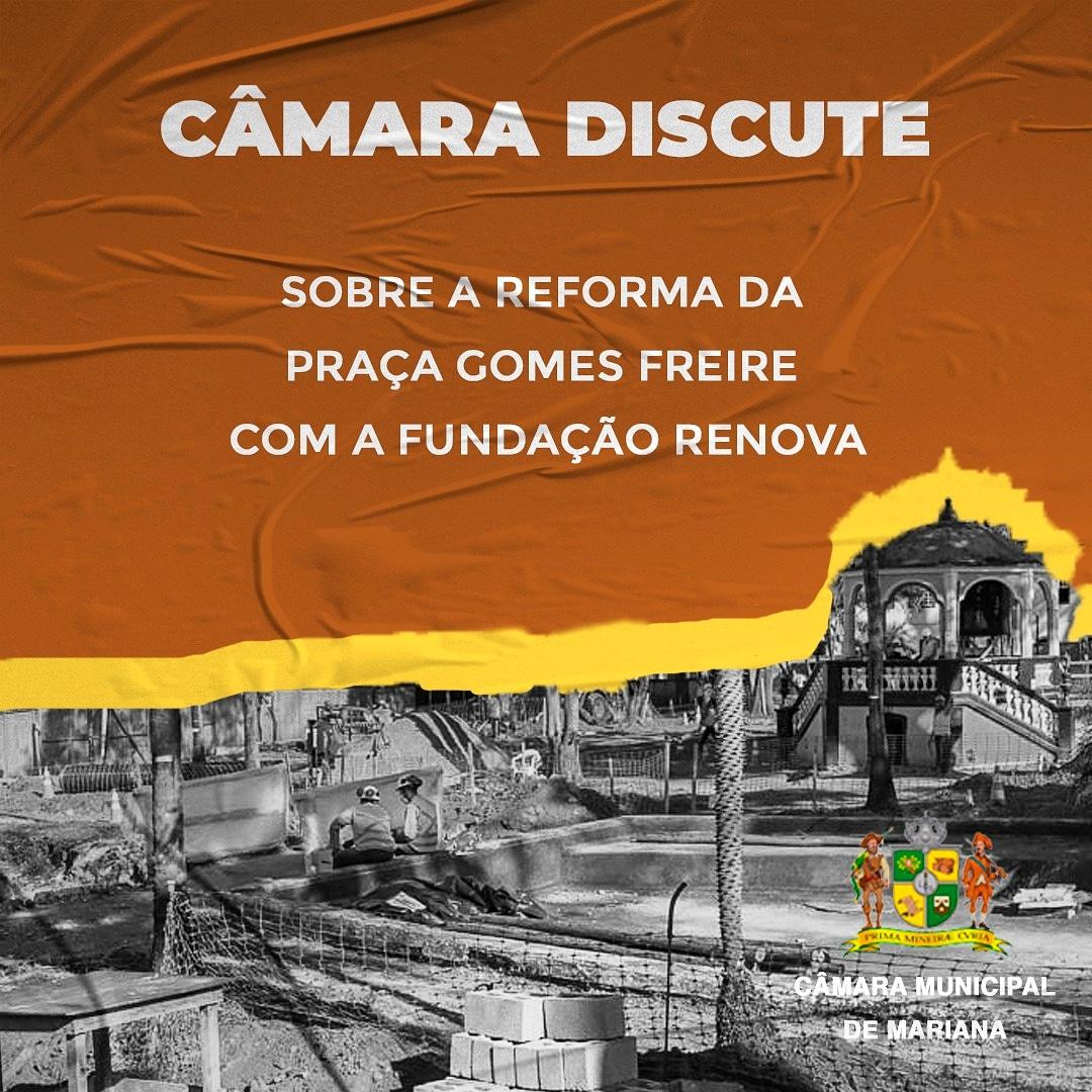 """Câmara discute sobre a reforma do """"Jardim"""" com a Fundação Re"""