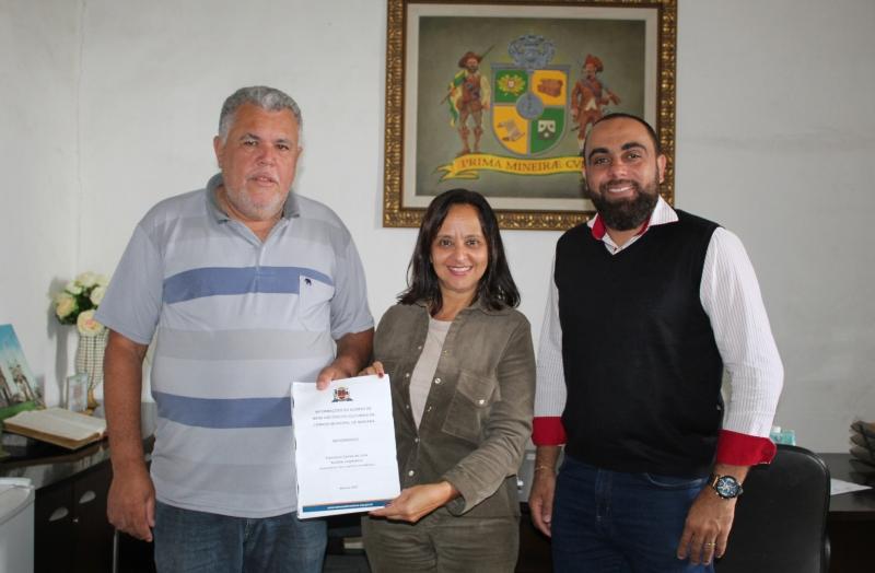 Presidente da Câmara (à esq.) ao lado de Lígia Pereira e Edvaldo Andrade