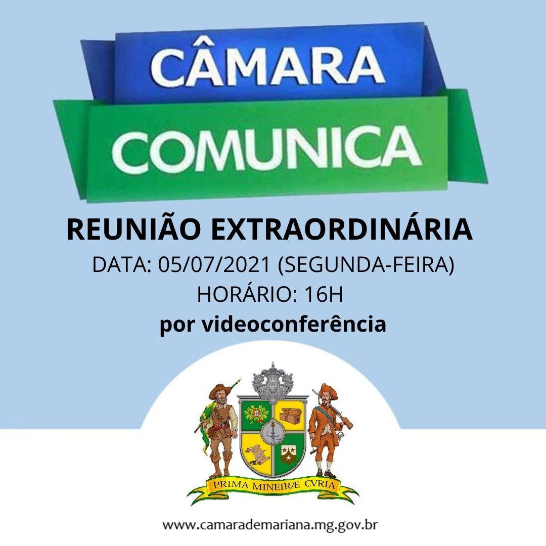 CÂMARA REALIZA REUNIÃO EXTRAORDINÁRIA nesta segunda-feira, 0